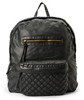 T-Shirt & Jeans Black Quilted Backpack