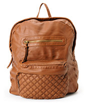 T-Shirt & Jeans Brown Quilted Backpack