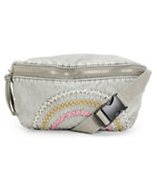 T-Shirt & Jeans Grey Embroidered Stitched Fanny Pack
