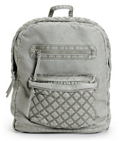 T-Shirt & Jeans Grey Quilted Faux Leather Backpack