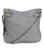 T-Shirt & Jeans Grey Studded Faux Leather Tote Bag