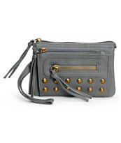 T-Shirt & Jeans Grey Studded Wristlet