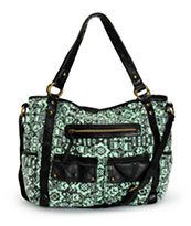 T-Shirt & Jeans Lauren Mint Tribal Print Tote Bag