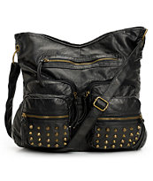 T-Shirt & Jeans Studded Pocket Black Tote Bag