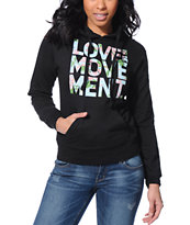 TWLOHA Movement Floral Black Pullover Hoodie