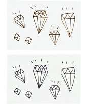 Tattly Diamond Pack Temporary Tattoos