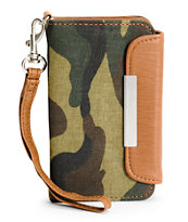 Tee Shirt & Jeans Camo Print iPhone Clutch Wristlet