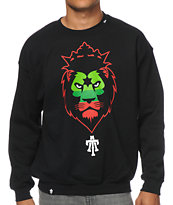 Teruo Imperial Lion Black Crew Neck Sweatshirt