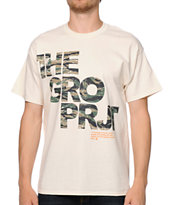 The Gro Project Project Camo White Tee Shirt