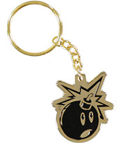 The Hundreds Adam Bomb Gold Keychain