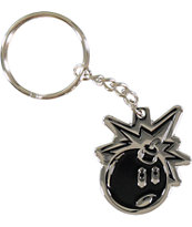 The Hundreds Adam Bomb Silver Keychain