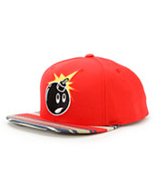 The Hundreds Adam Red & Stripe Snapback Hat