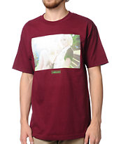 The Hundreds Alysha Burgundy Tee Shirt