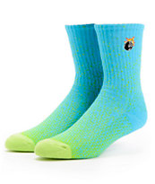 The Hundreds Andre Cyan & Green Fade Crew Socks