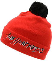 The Hundreds Blot Red Pom Fold Beanie