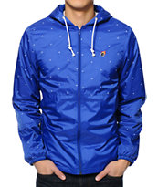 The Hundreds Carlton Blue Windbreaker Jacket
