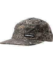 The Hundreds Char Burnt Camo Print 5 Panel Hat