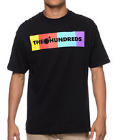 The Hundreds Color Bar Black Tee Shirt