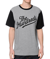 The Hundreds Conrad Grey & Black T-Shirt