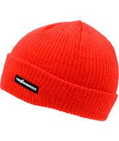 The Hundreds Crisp Red Fold Beanie