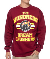 The Hundreds Crushing Dreams Burgundy & Yellow Crew Neck Sweatshirt