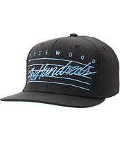 The Hundreds Daze Black Denim Snapback Hat