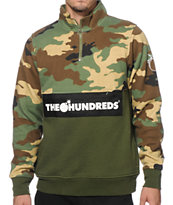 The Hundreds Dime Half Zip Crew Neck Sweatshirt