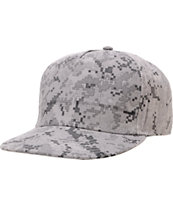 The Hundreds Disrupt Grey Digi Camo Snapback Hat