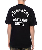 The Hundreds Drawing Lines Black & White Tee Shirt