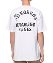 The Hundreds Drawing Lines White & Black Tee Shirt