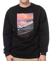 The Hundreds Dusk Black Crew Neck Sweatshirt
