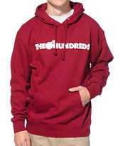 The Hundreds Forever Bar Burgundy Pullover Hoodie