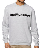 The Hundreds Forever Bar Grey Crew Neck Sweatshirt
