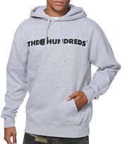 The Hundreds Forever Bar Heather Grey Pullover Hoodie