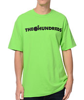 The Hundreds Forever Bar Lime Green Tee Shirt
