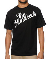 The Hundreds Forever Slant Black Tee Shirt