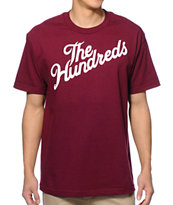 The Hundreds Forever Slant Burgundy Tee Shirt