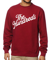 The Hundreds Forever Slant Cardinal Crew Neck Sweatshirt