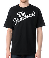 The Hundreds Forever Slant Logo Black T-Shirt