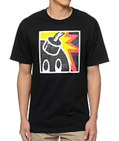 The Hundreds Geo Square Adam Black Tee Shirt