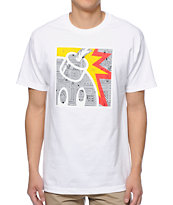The Hundreds Geo Square Adam White Tee Shirt