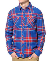 The Hundreds Hacket Blue Long Sleeve Button Up Shirt