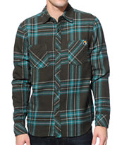 The Hundreds Hacket Dark Green Plaid Flannel