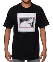 The Hundreds Halfbomb Cracked Black Tee Shirt