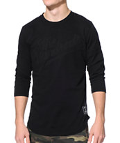 The Hundreds Hitman Black Baseball Tee Shirt