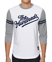 The Hundreds Hitman White Baseball Tee Shirt