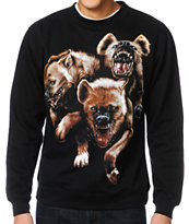 The Hundreds Hyenas Black Crew Neck Sweatshirt