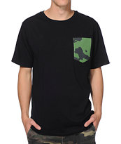 The Hundreds Jay Camo Black Pocket Tee Shirt