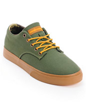 The Hundreds Johnson Low Army Green Canvas Skate Shoe