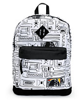 The Hundreds Jon White Geo Print Backpack